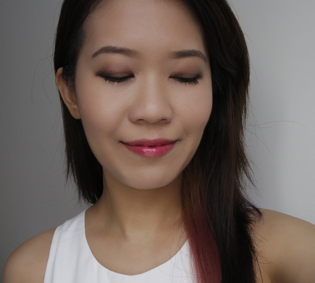 Guerlain Les Cendres and Pink Me Up makeup look