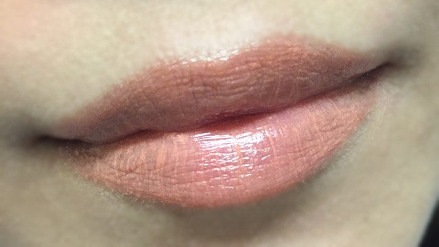 Shiseido Veiled Rouge OR313 lip swatch