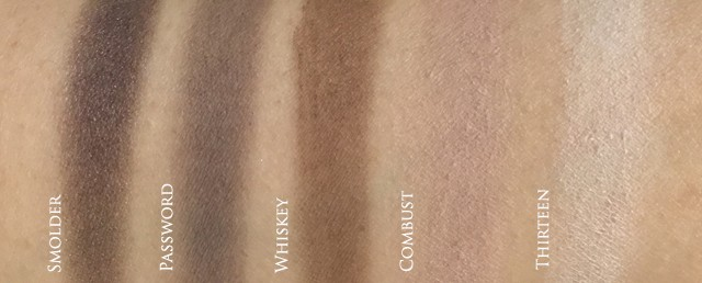 Urban Decay Naked Smoky Palette swatches 2