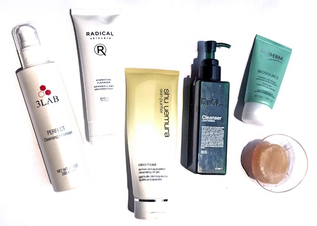 Current facial cleansers on rotation