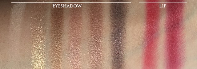 Lancome L'Absolu Palette swatches