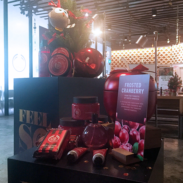 The Body Shop Frosted Cranberry collection