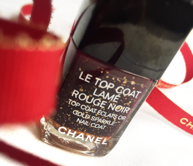 Chanel Le Top Coat Lame Rouge Noir for Holiday 2015