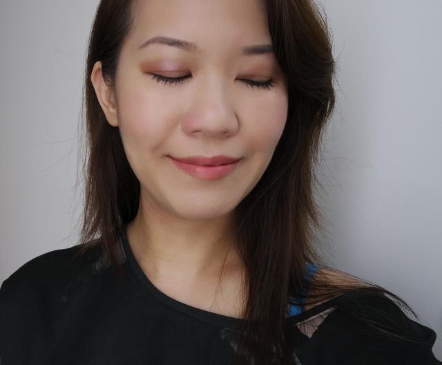 Shiseido Y's Festive Camellia Palette natural makeup look