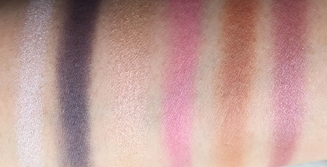 Swatches of Shiseido x Y's Festive Camellia Palette for Holiday 2015