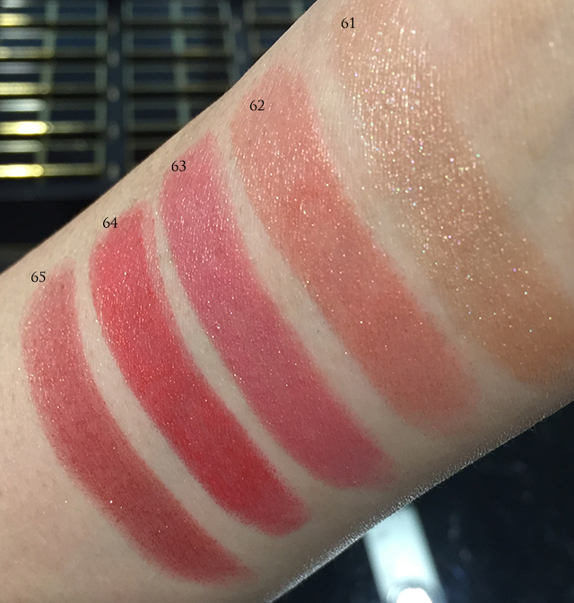 Tom Ford Lips and Boys 61-65 swatches 2