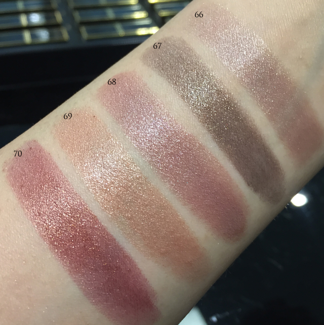 Tom Ford Lips and Boys 66-70 swatches