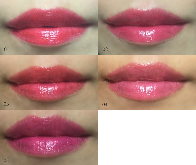 Etude House Sweet Cherry Tint Lip Swatches
