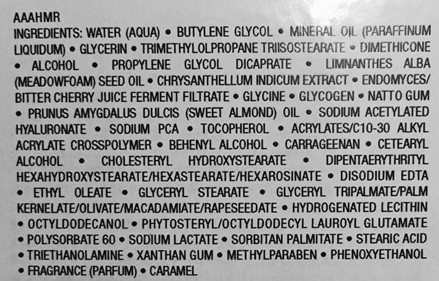 Albion Exage Activation Moisture Milk II ingredients
