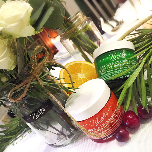Kiehl's Tumeric & Cranberry Seed Energizing Radiance Masque and Cilantro & Orange Extract Pollutant Defending Masque