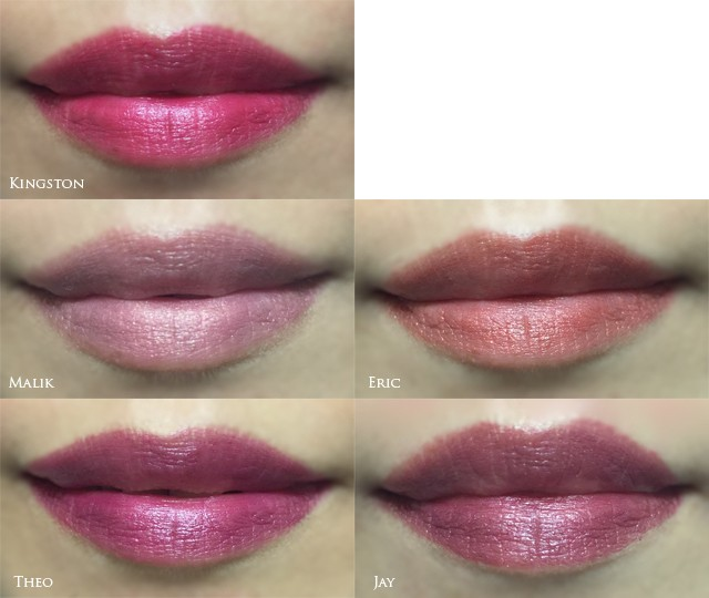 Tom Ford Lips and Boys lip swatches