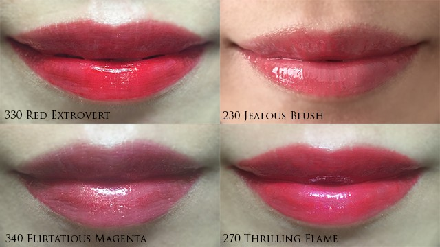 Estee Lauder Pure Color Envy Sculpting Gloss Lacquer lip swatches