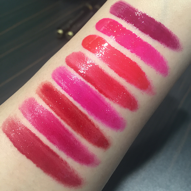 Tom Ford Patent Finish Lip Color swatches 2