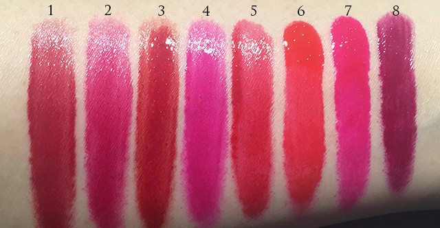 Tom Ford Patent Finish Lip Color swatches