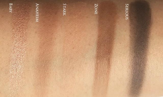 UD x Gwen Stefani Eyeshadow Palette middle row swatches copy