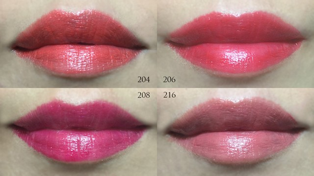 Chanel Rouge Stylo lip swatches