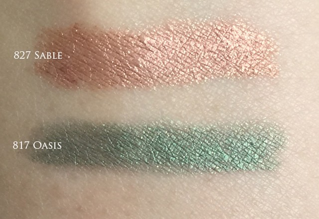 Chanel Stylo Yeux Waterproof Oasis & Sable swatches