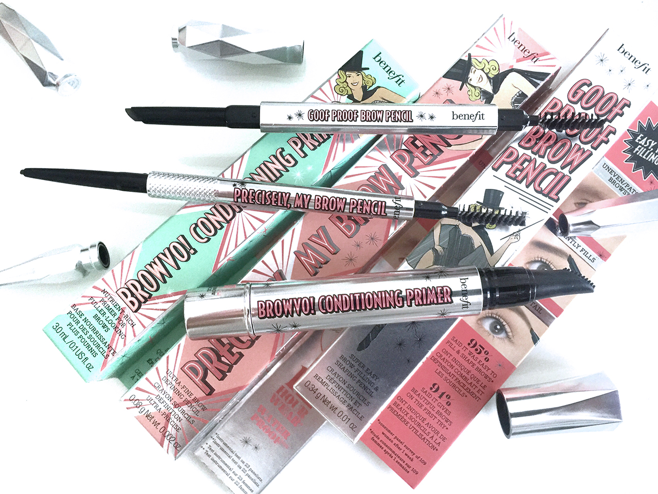 Benefit Brow Collection 2016 - Browvo Conditioning Primer, Precisely My Brow Pencil, Goof Proof Brow Pencil