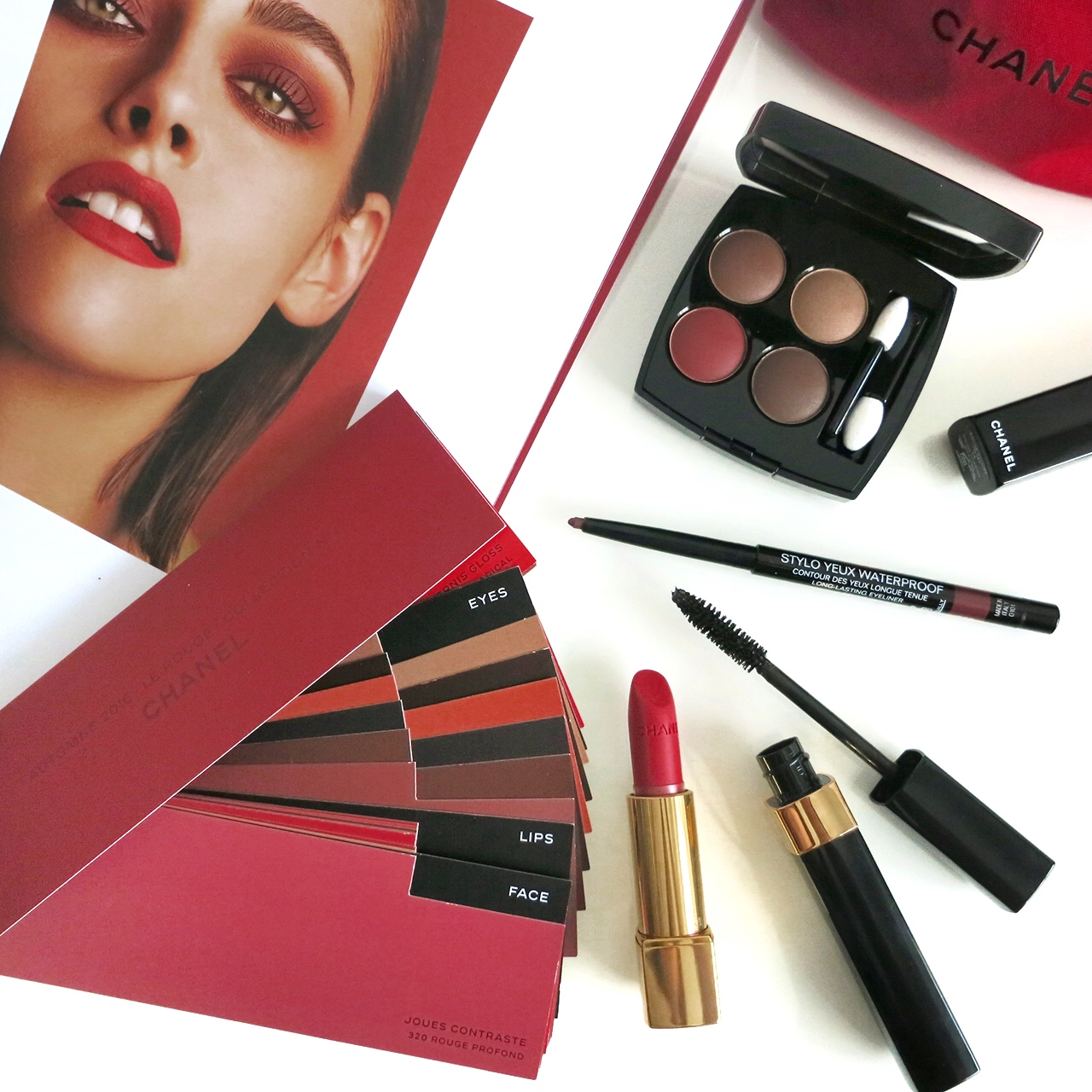 Chanel Les 4 Ombres Candour et Experience, Stylo Yeux Waterproof Eros, Dimensions de Chanel Subversif for Fall 2016
