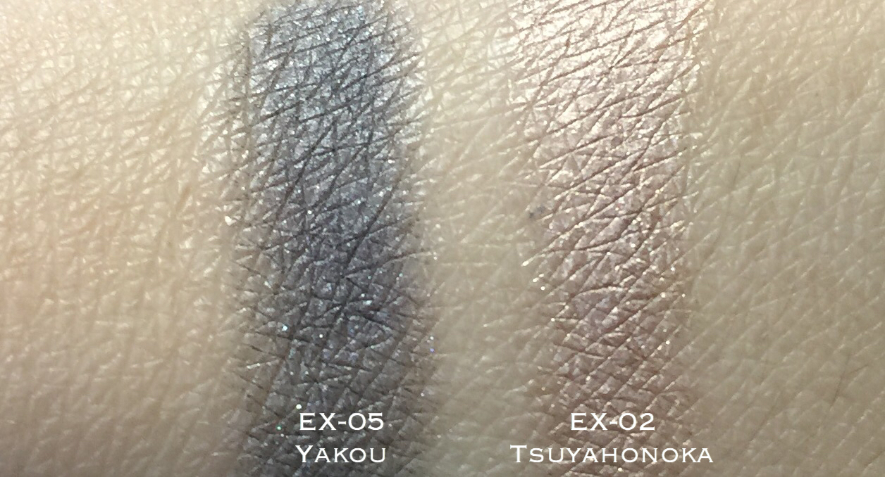 SUQQU Deep Nuance Eyes EX-02, EX-05 swatches