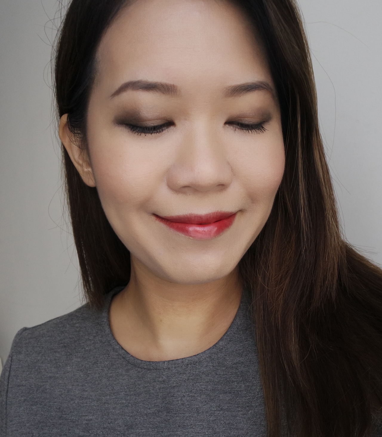 SUQQU Fall 2016 makeup look ft Deep Nuance Eyes, Pure Color Blush, Extra Glow Lipstick