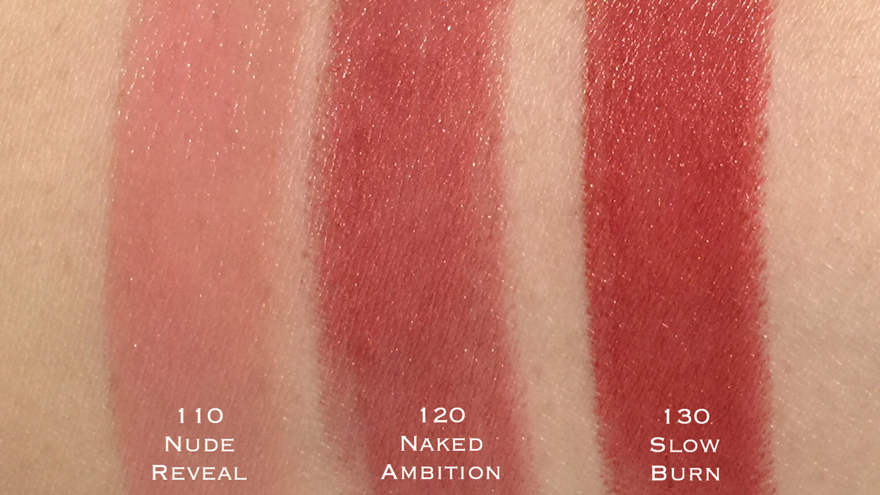Estee Lauder Pure Color Envy Hi-Lustre Lipstick 110-130 swatches