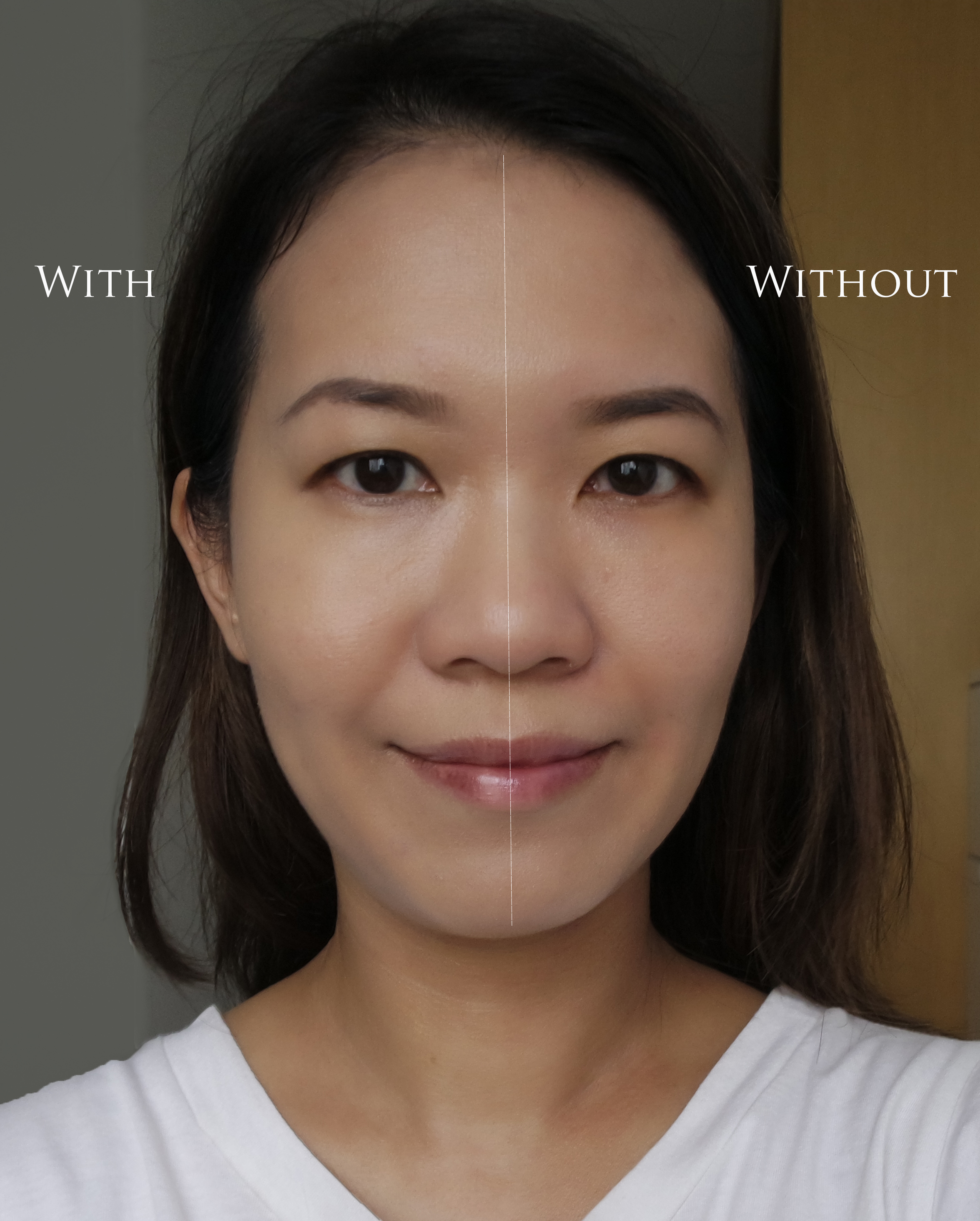 SUQQU Extra Rich Cream Foundation before after comparison