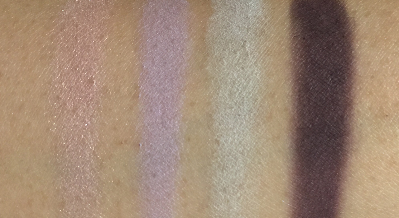 swatches of suqqu blend colour eyeshadow ex-36 fuyusumire for holiday 2016