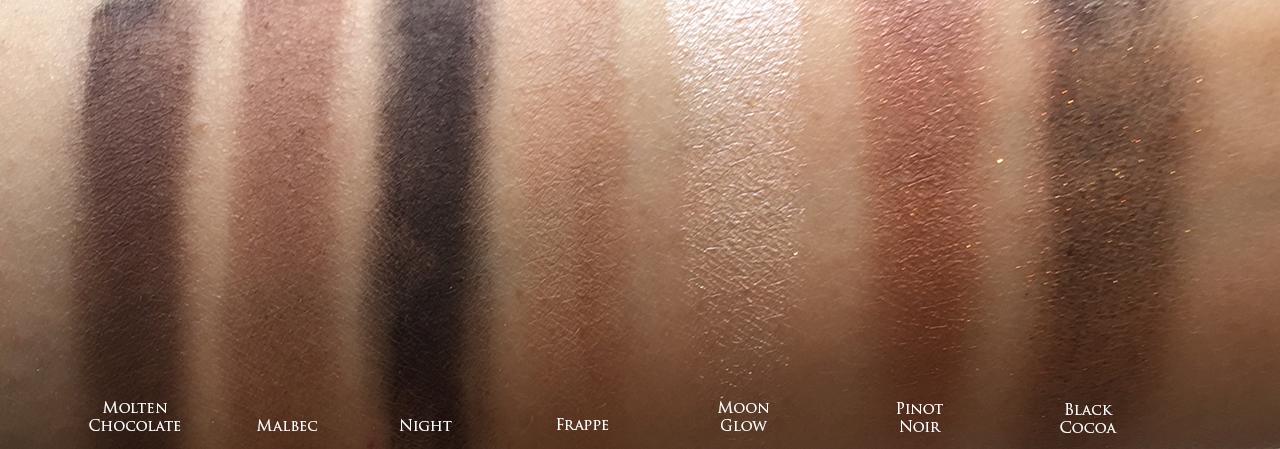 Bobbi Brown Wine Eye Palette swatches
