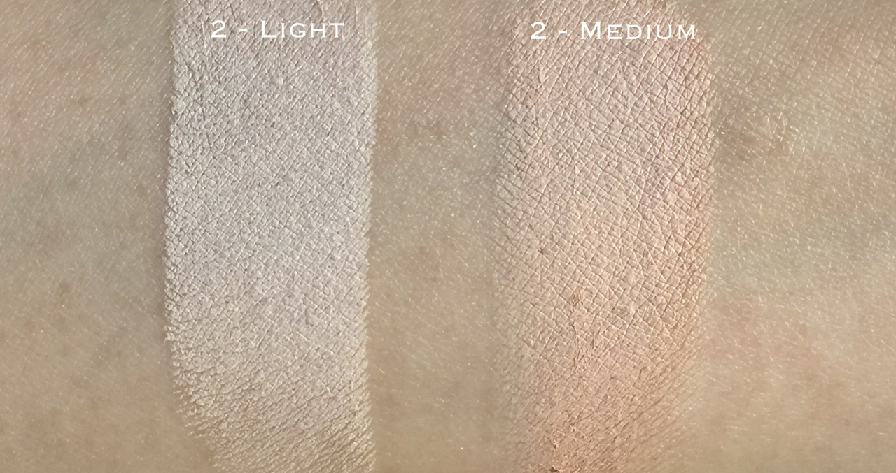 La Mer the Concealer comparison swatch