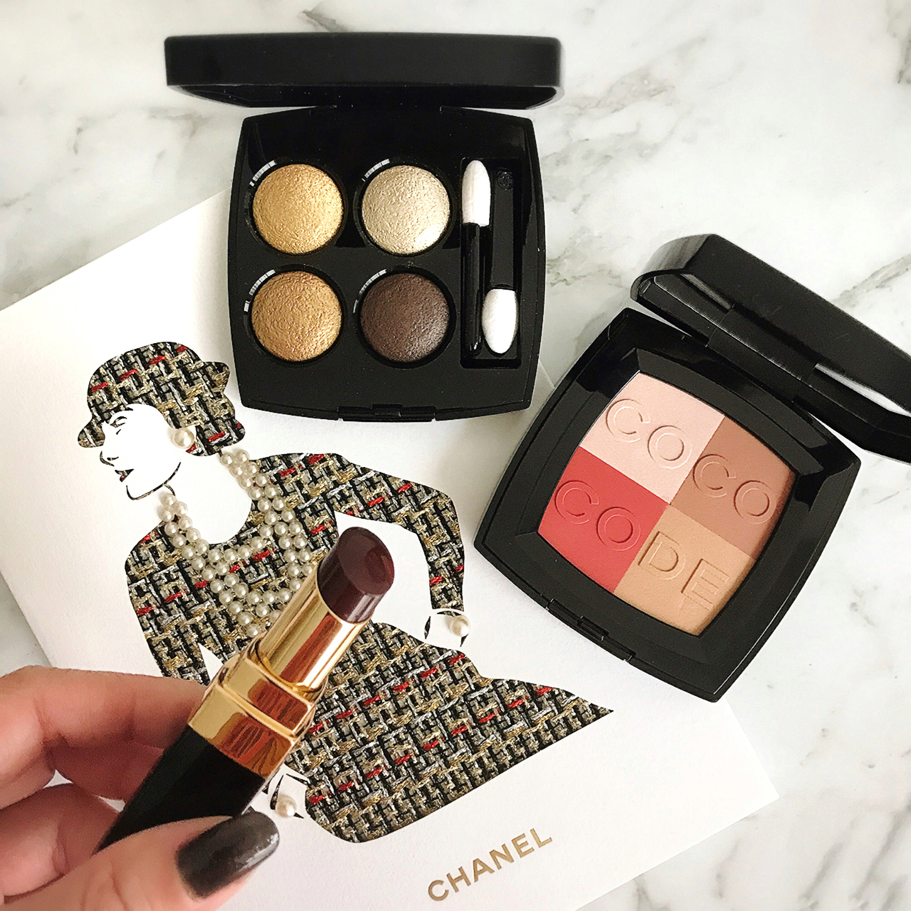 Chanel Coco Code, Les 4 Ombres Code Elegants & Rouge Coco Shine Noir Moderne