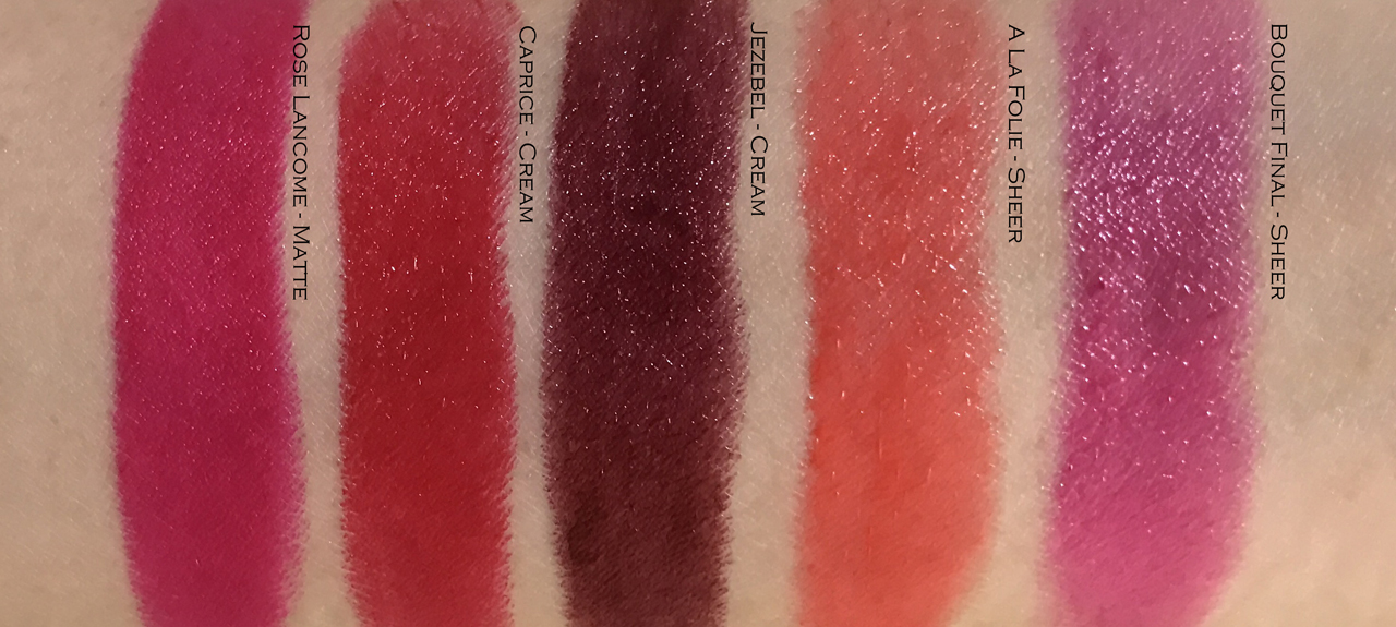 Lancome L'Absolu Rouge Swatches