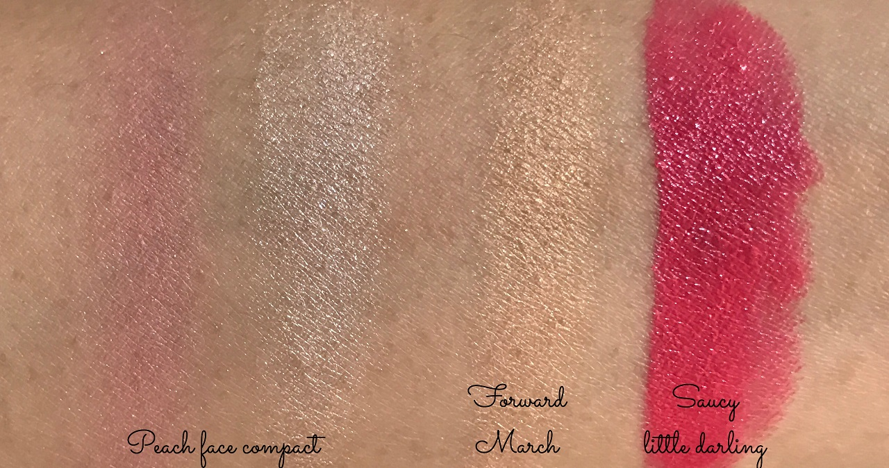 MAC Nutcracker Sweet swatches