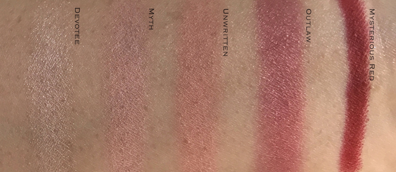 NARS x Sarah Moon True Story Cheek & Lip Palette swatches