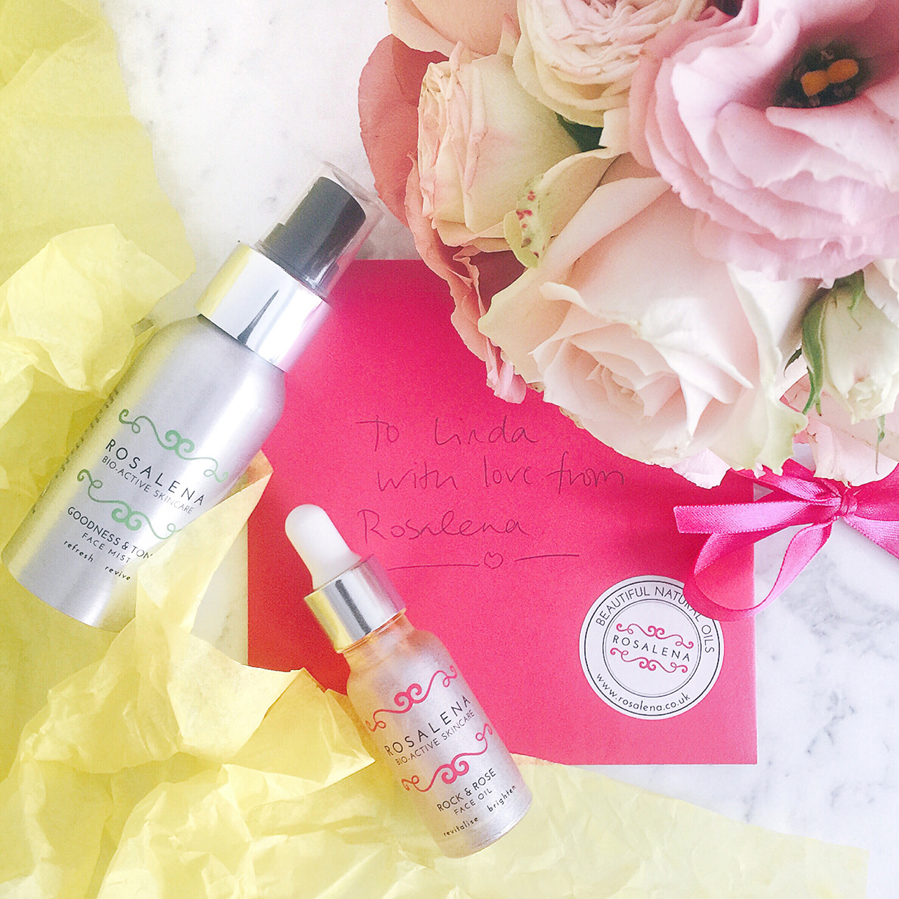 Rosalena Rock & Rose face oil and Goodness & Tonic Face mist