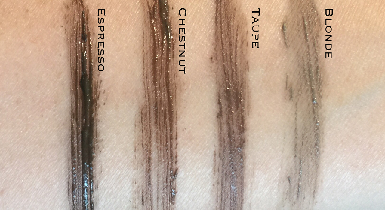Tom Ford Fiber Brow Gel swatches