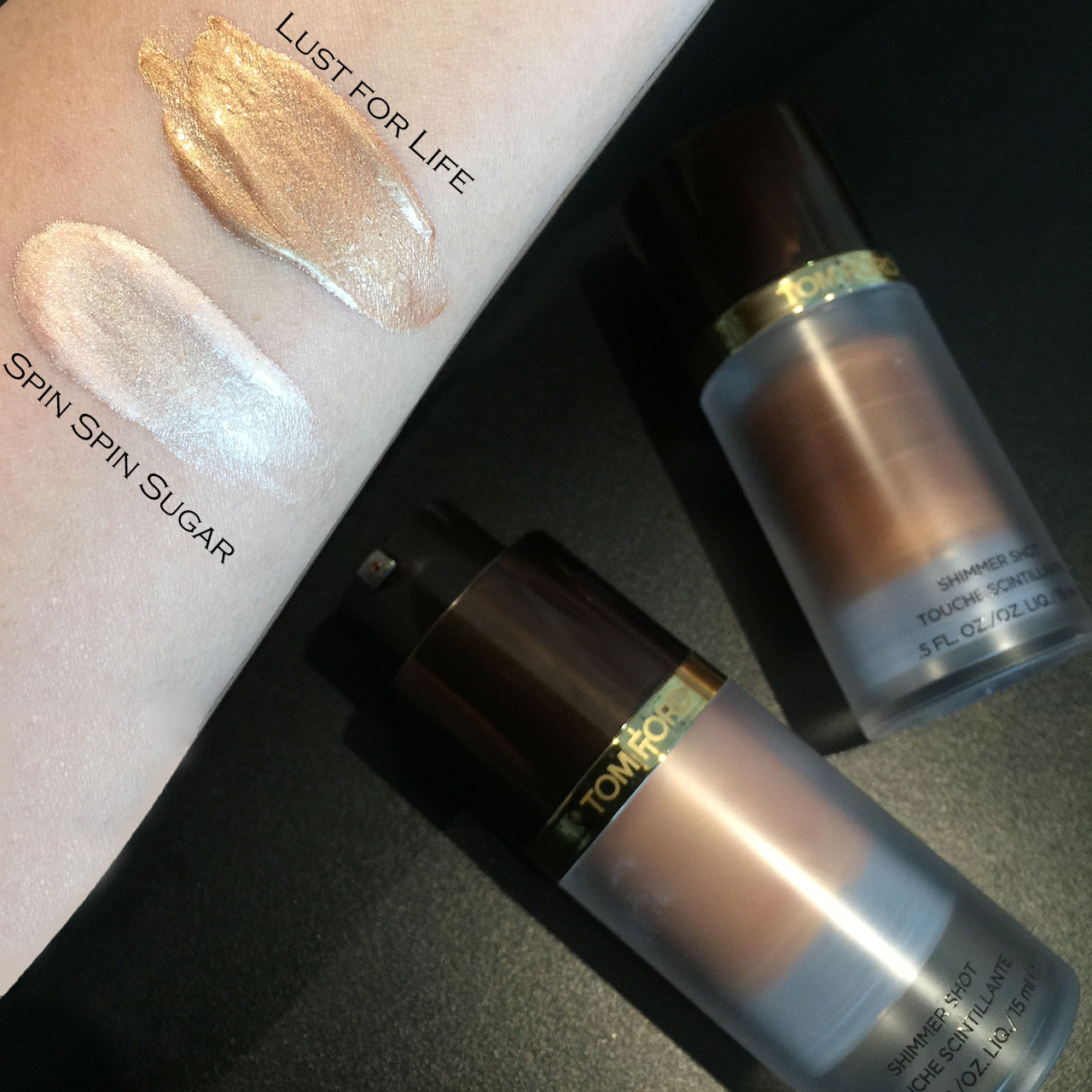 Tom Ford Shimmer Shot swatches