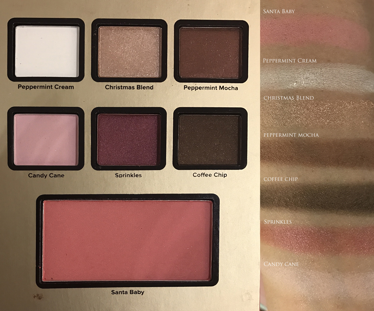 Too Faced Grand Hotel Cafe - Peppermint Mocha for Holiday 2016