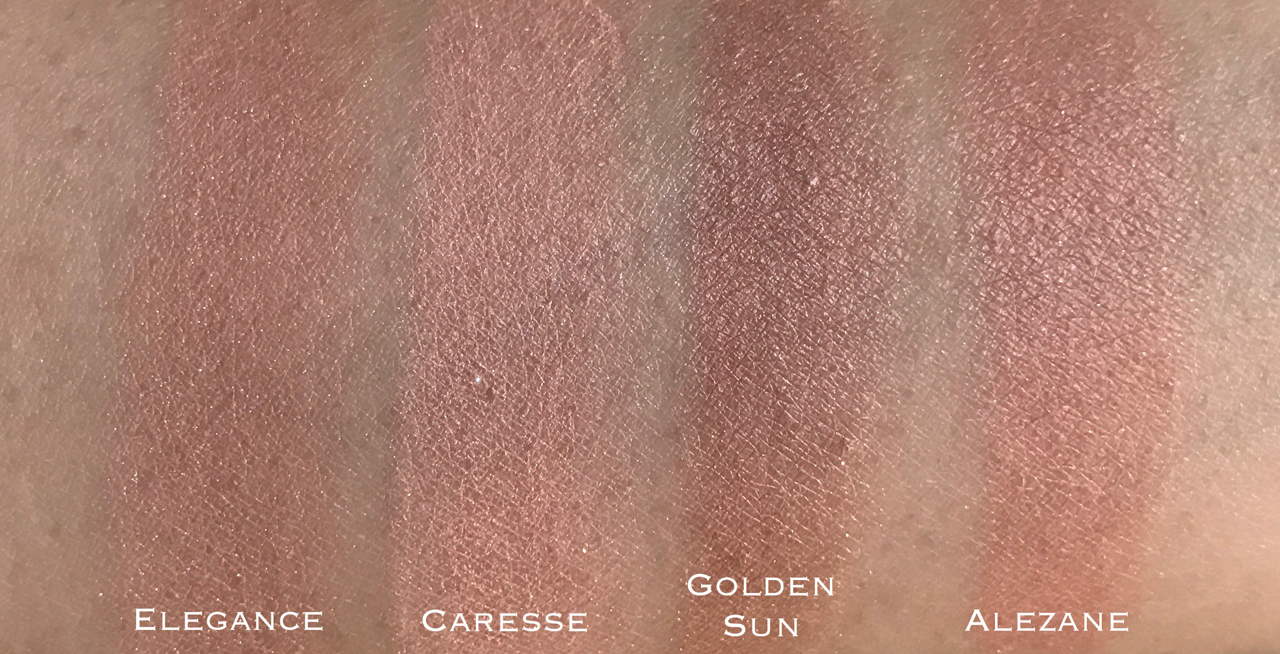 Chanel Joues Contraste Elegance comparison swatches