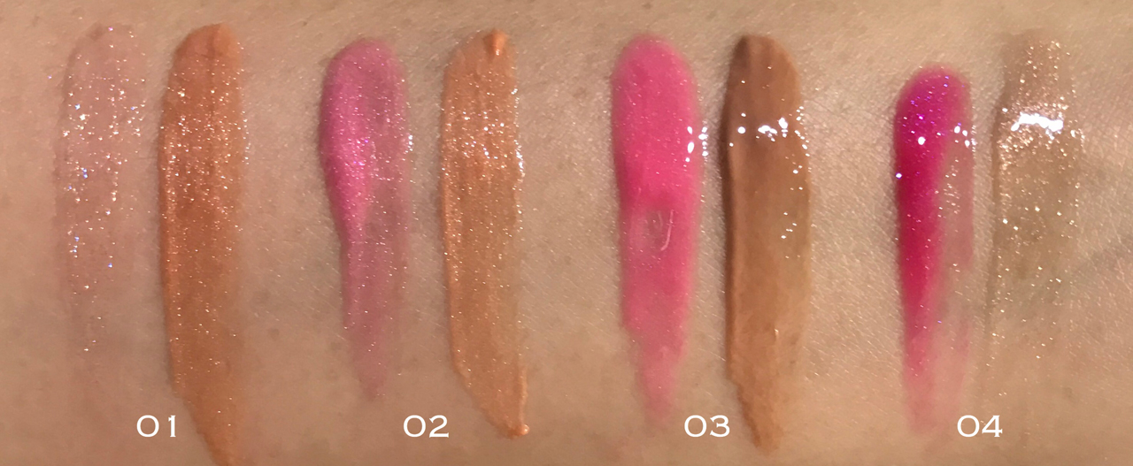 RMK Face Pop W Stick Gloss swatches