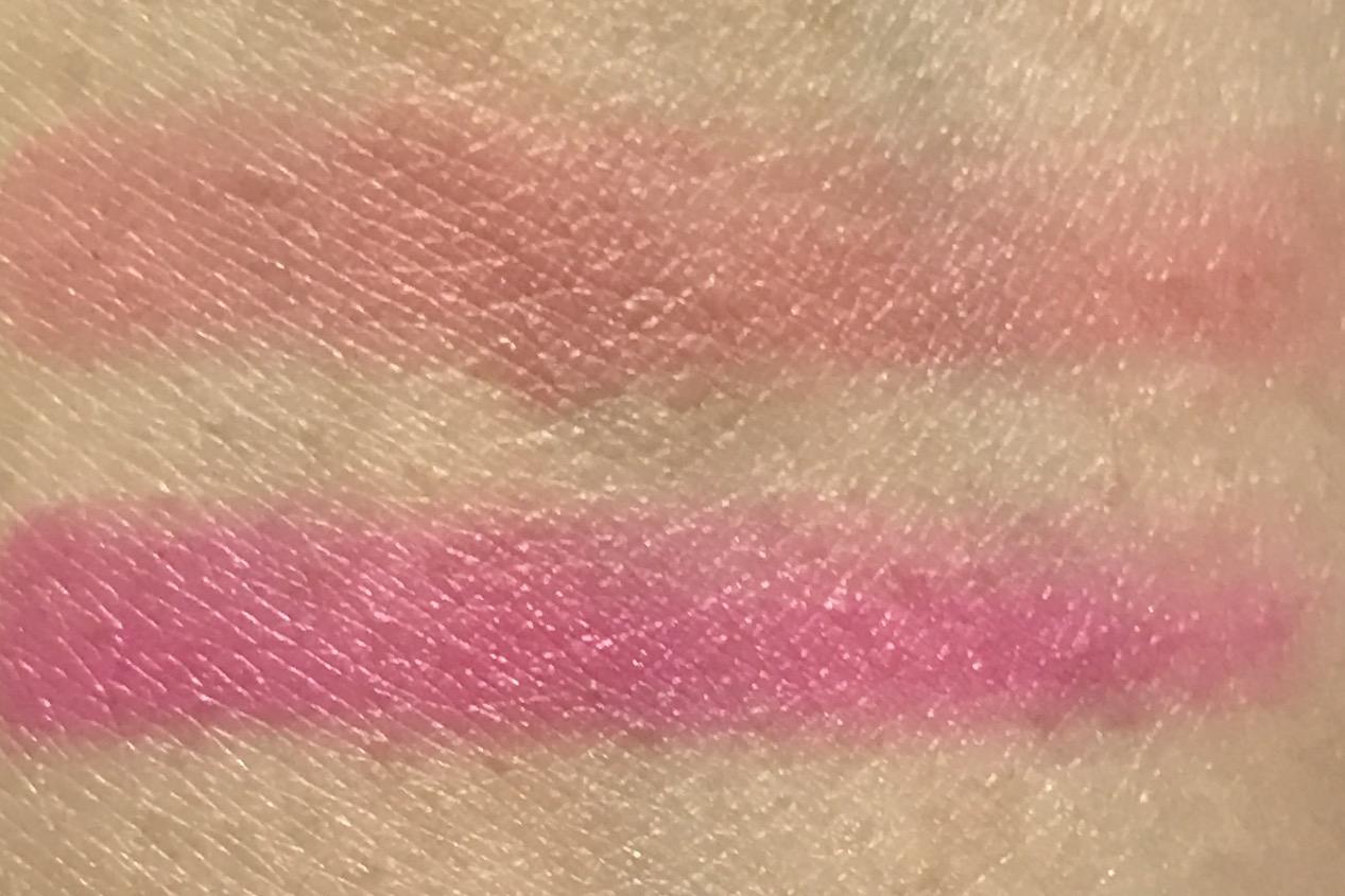 Lancome La Rose Palette lip swatches