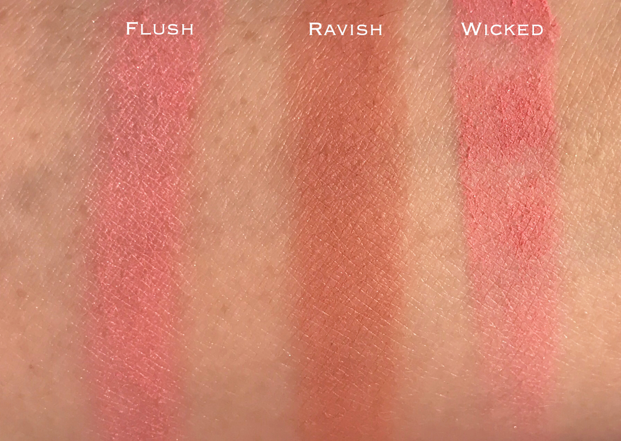 Tom Ford Wicked, Ravish, Flush cheek color swatches