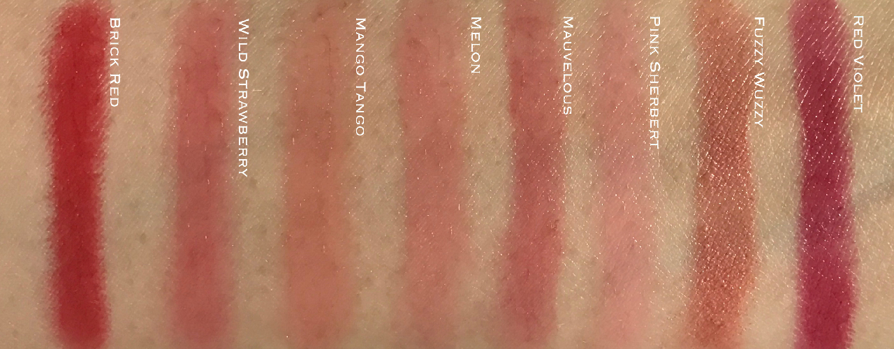 Clinique x Crayola Chubby Sticks swatches