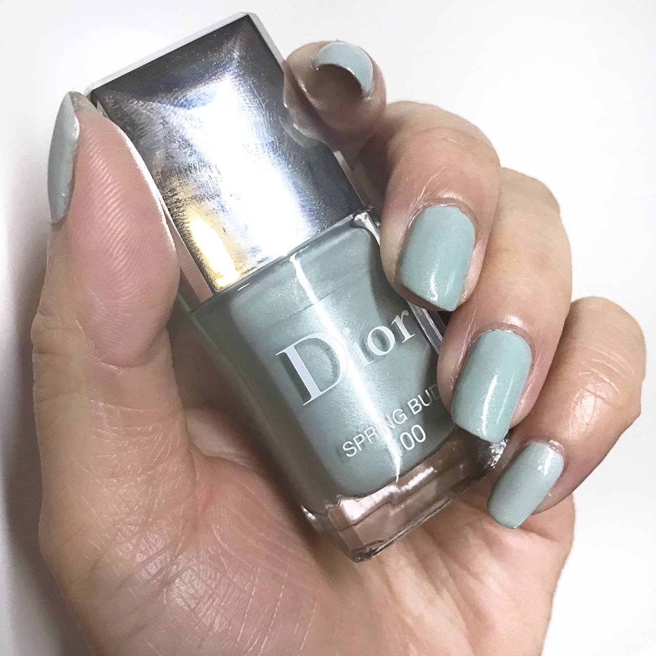 Dior Le Vernis Spring Bud nail swatch