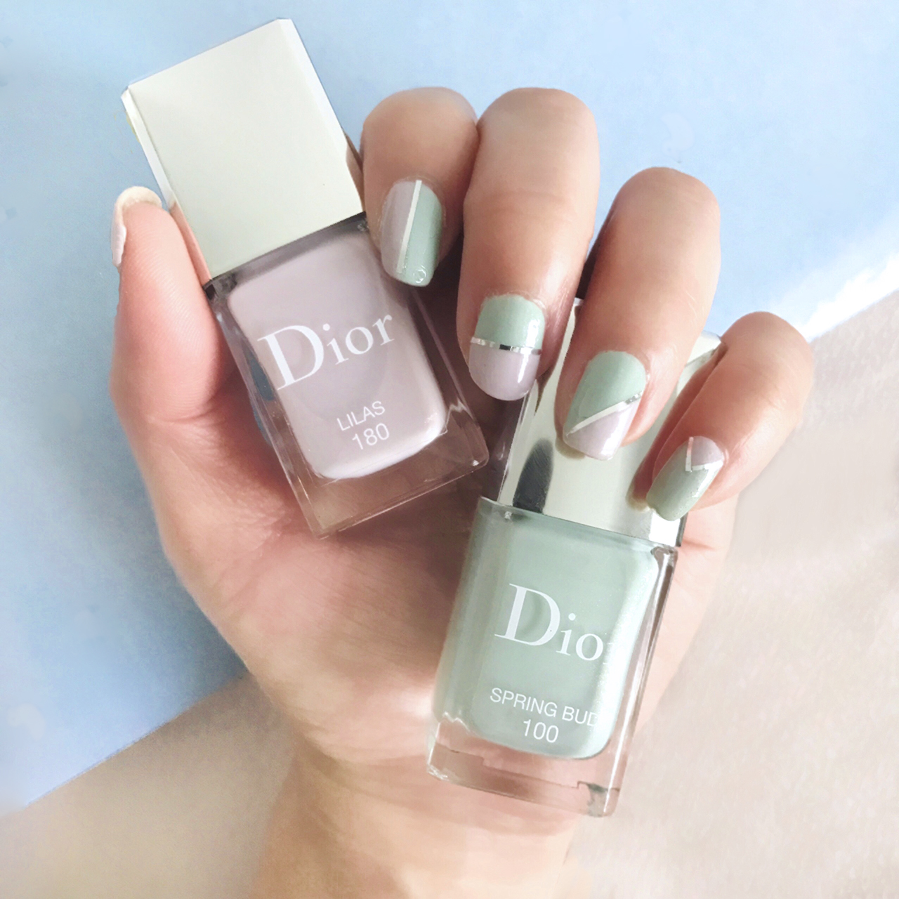 Dior Le Vernis Lilas nail swatch
