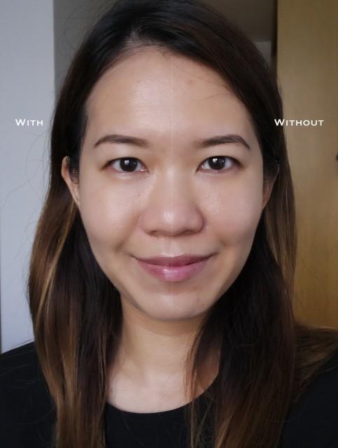 Shu Uemura Petal Skin Foundation before after comparison
