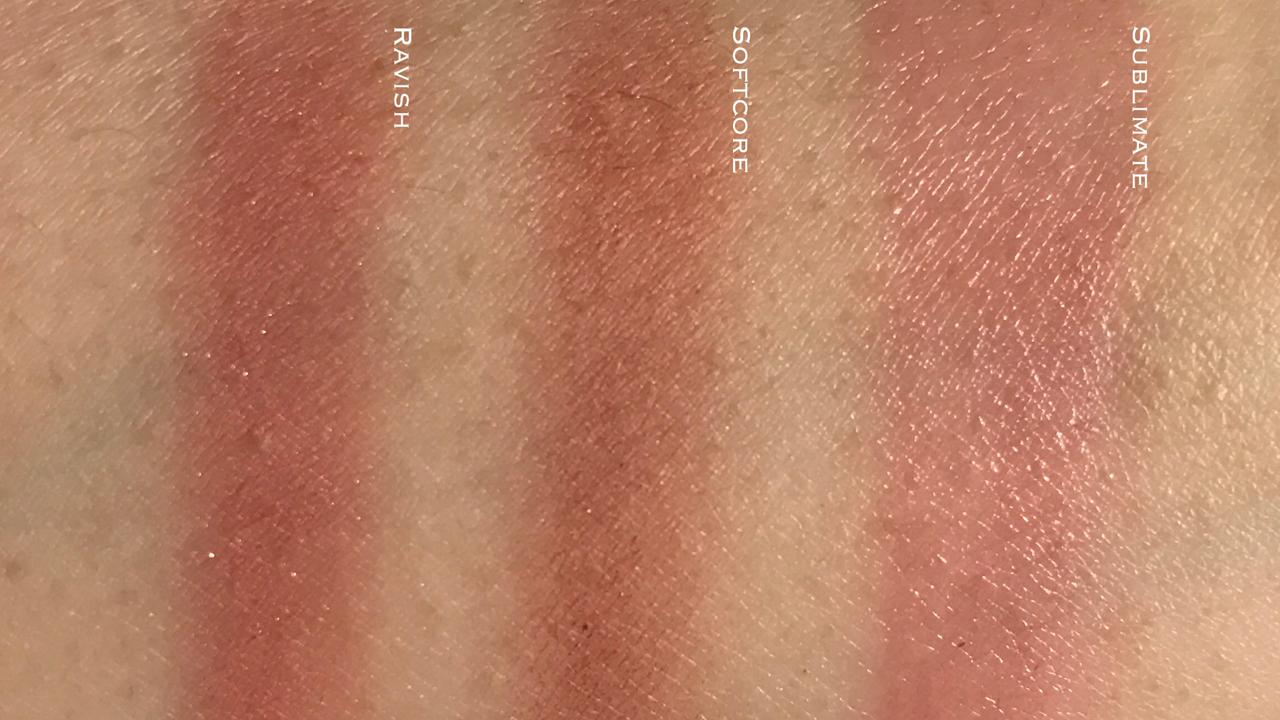 Tom Ford Shade & Illuminate Sublimate blush shade comparison swatches