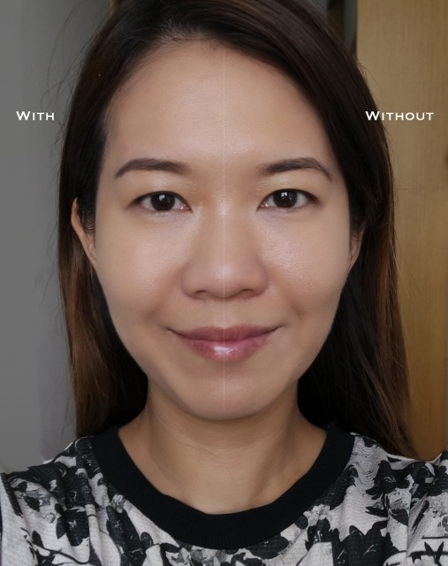 Chanel Le Blanc Whitening Compact Foundation before after comparison