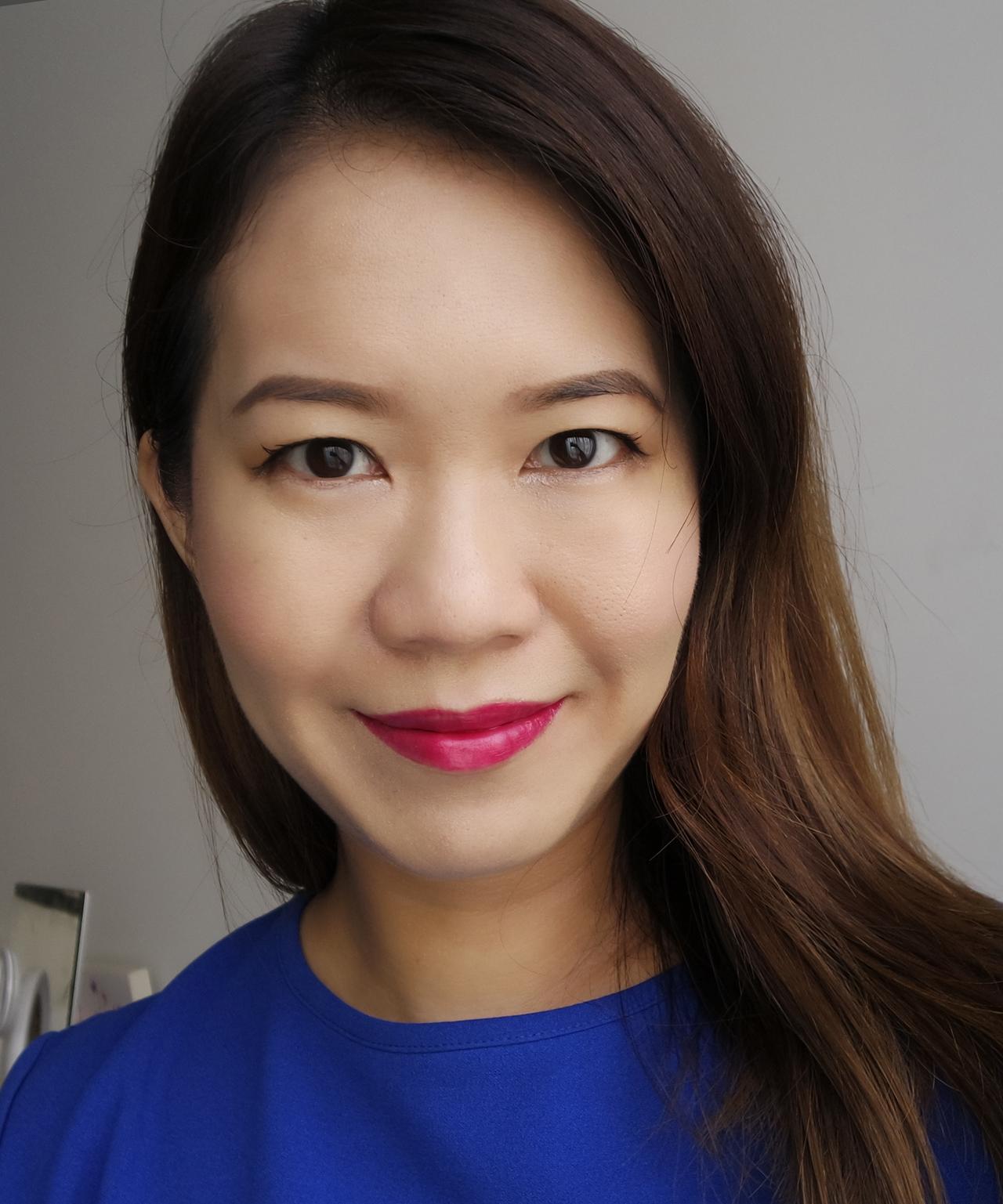 Chanel Le Rouge Crayon de Couleur Framboise makeup look