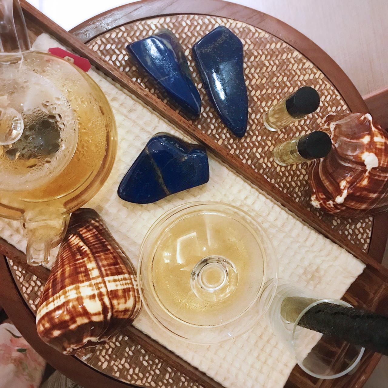 Hot Lapis Lazuli Stone Massage